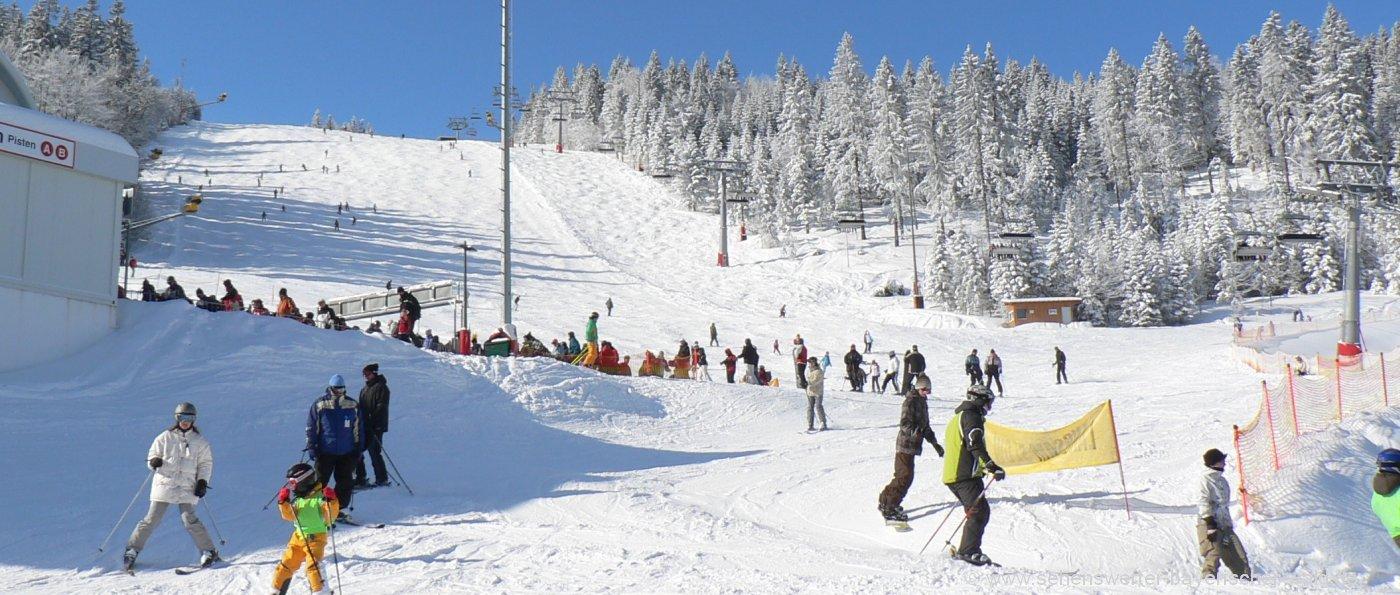 Skifahren Bayerischer Wald Skiurlaub Ferienwohnung für Familien